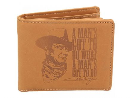 "John Wayne ""A man´s got to do what a man´s got to do"" Wallet"